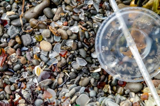 Trash on Glass Beach