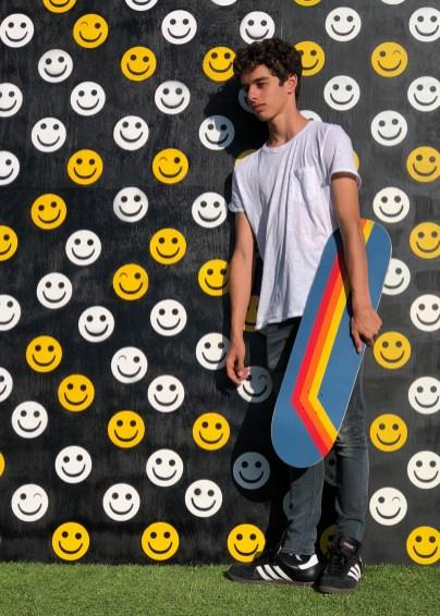 hilarystyle Skateboard Inspired by... Aviator Nation Stripes