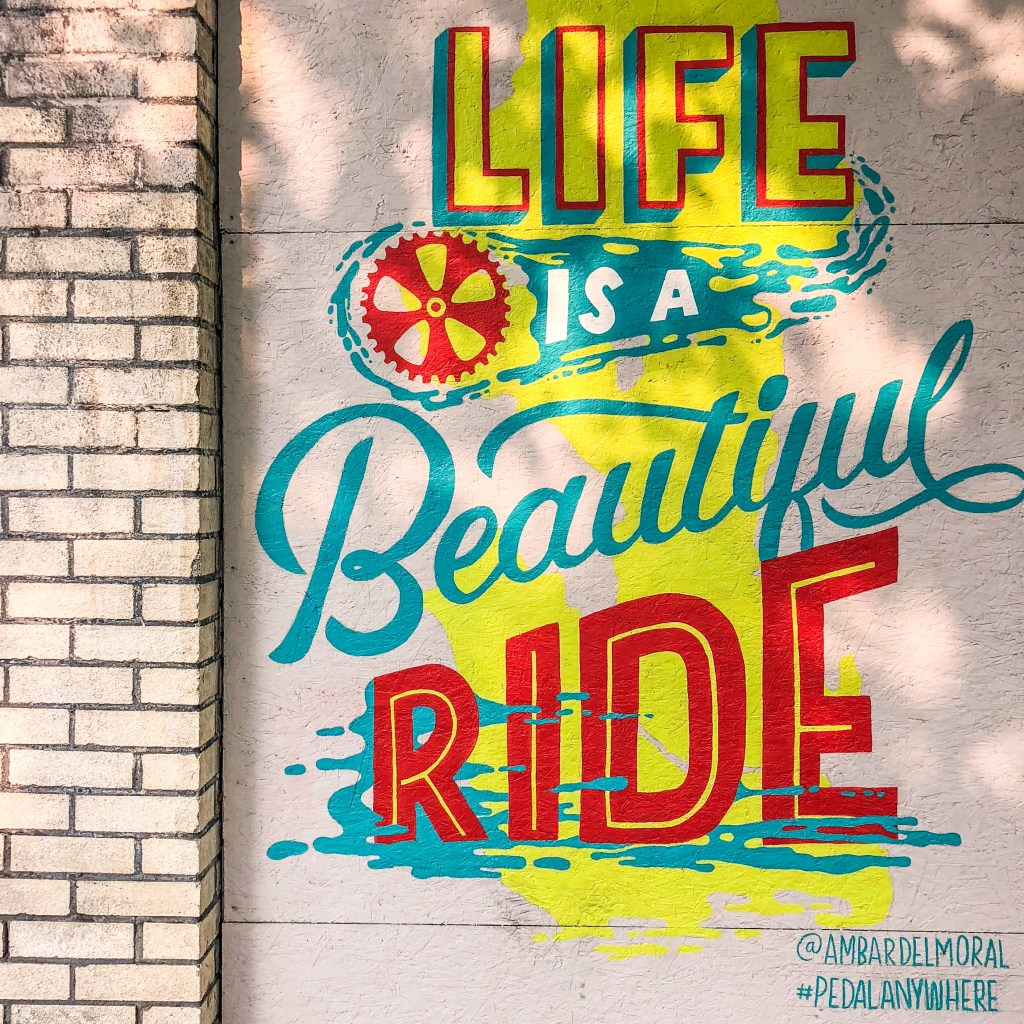 Life is a Beautiful Ride Mural Belltown Seattle Washington