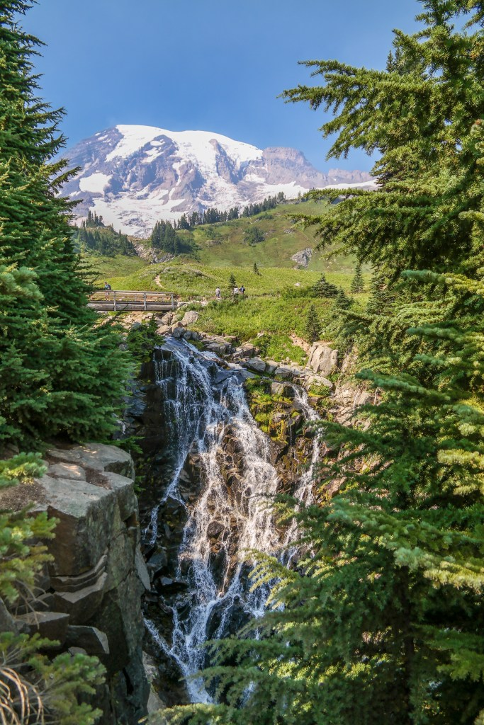 Myrtle Falls Mount Rainier Washington