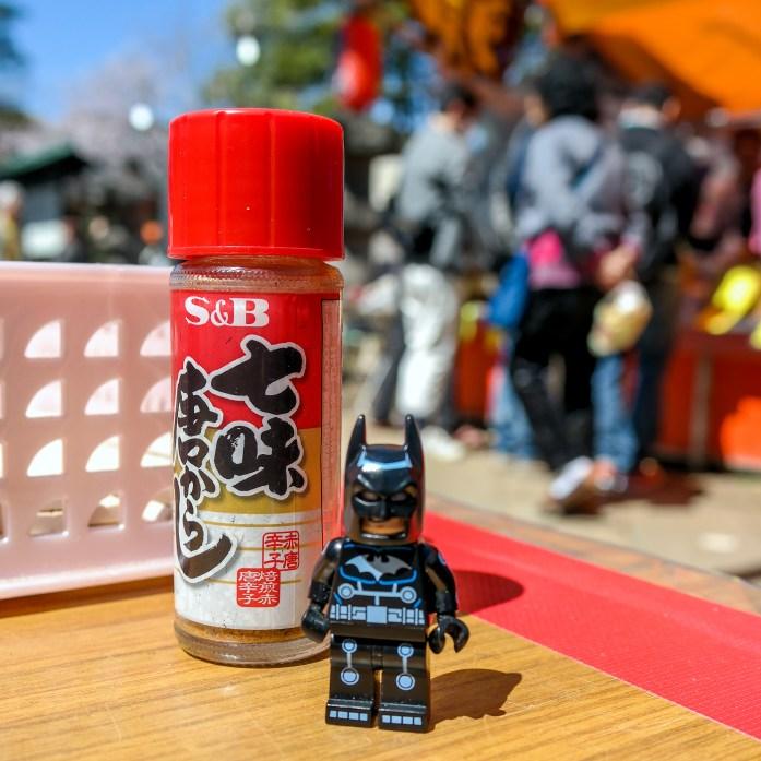 Batman tries street food in Ueno Park Tokyo Japan