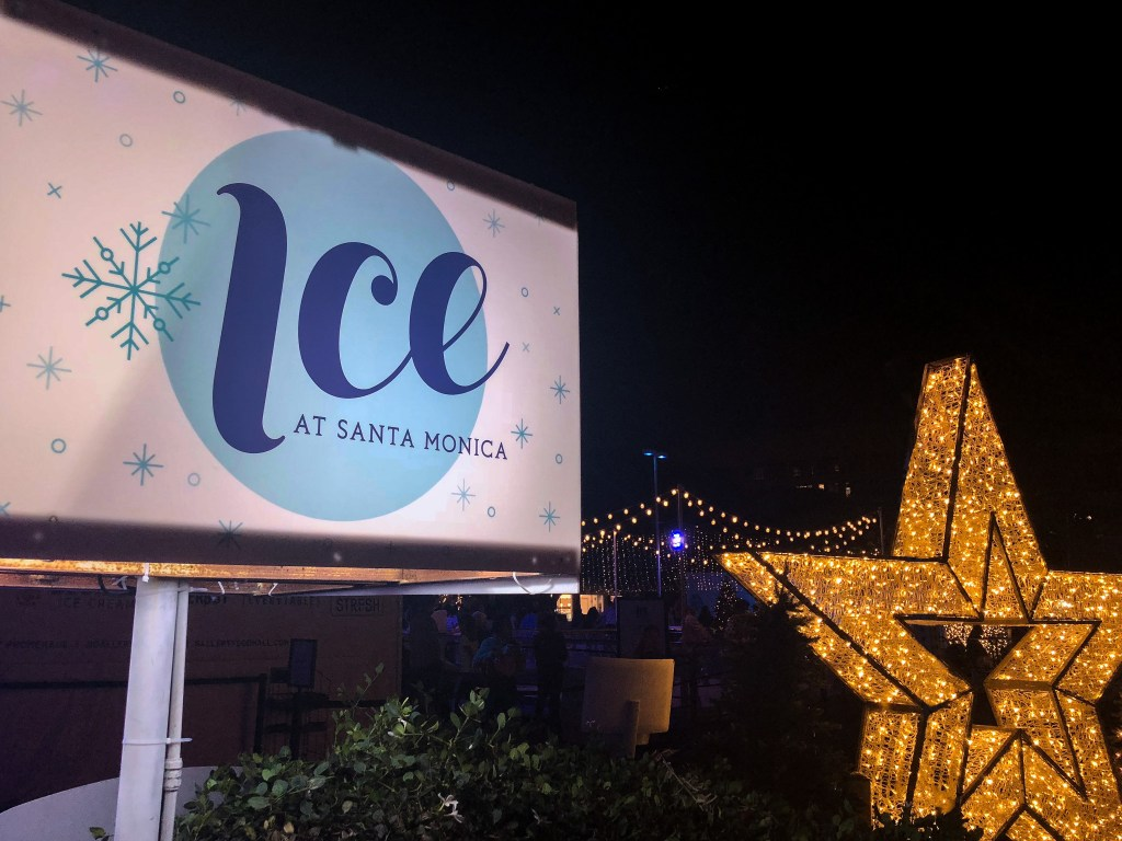 Ice Skating Santa Monica California #santamonicaiceskating