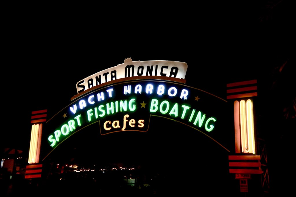The Santa Monica Pier Sign #santamonicapier