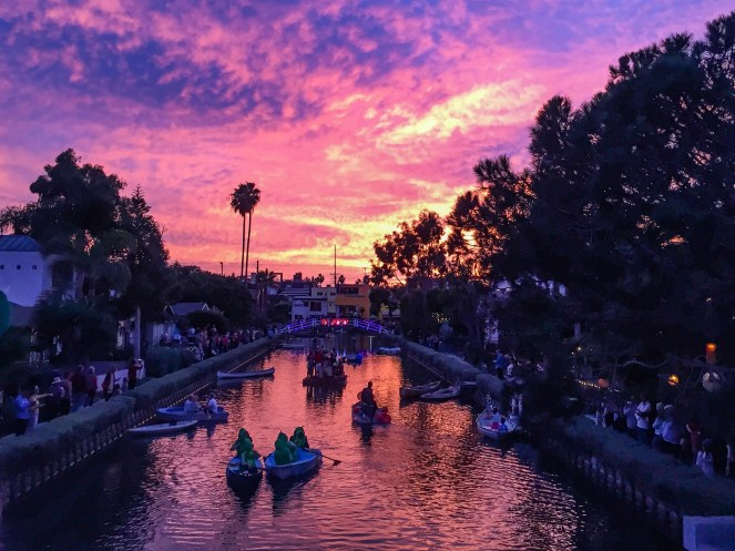 Venice Canals Holiday Venice California #venicecanals