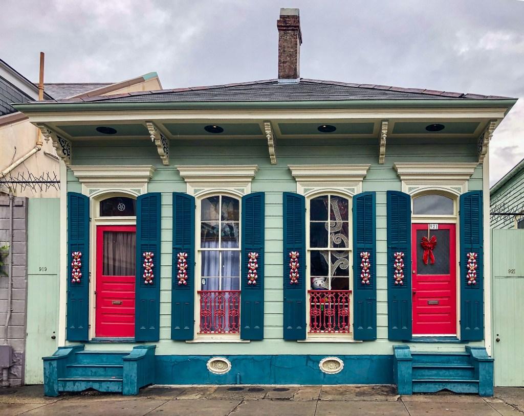 Festive House Bourbon Street New Orleans Louisiana