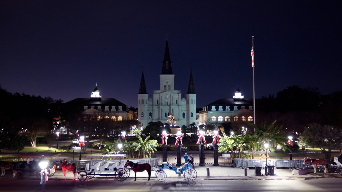 Jackson Square Holiday New Orleans Louisiana