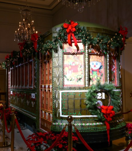 Ritz Carlton Gingerbread Streetcar New Orleans Louisiana