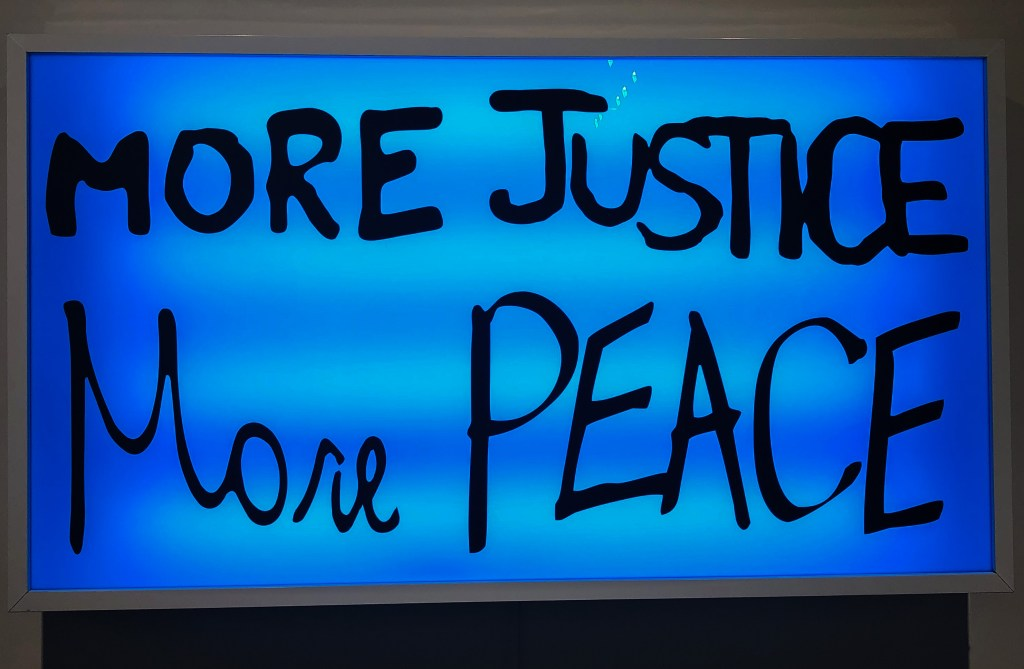More Justice More Peace 2018 Artist: Sam Durant #artbasel
