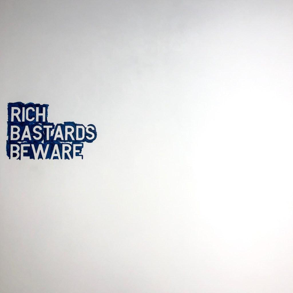 #artbaselmiami Untitled 2007 (rich bastards beware no. 1) #RirkritTiravanija
