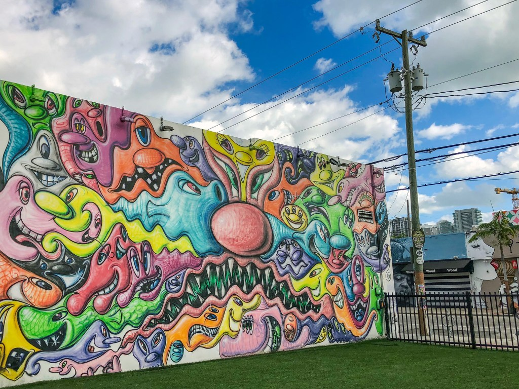 Kenny Scharf Wynwood Miami Florida #kennyscharf #wynwoodwalls