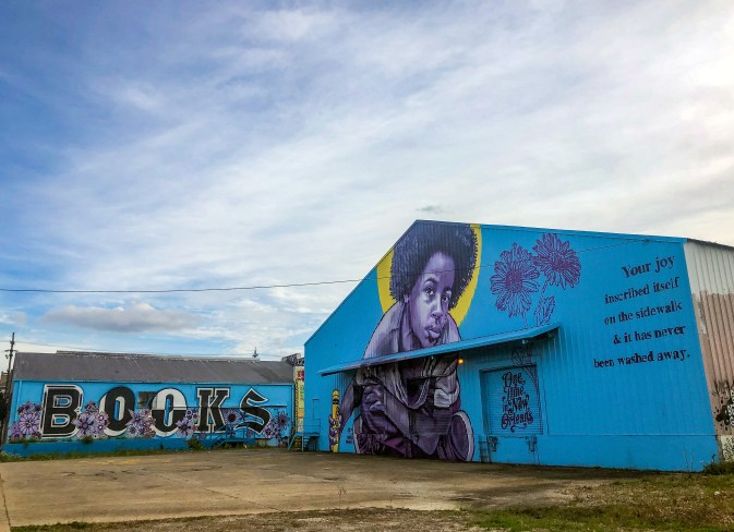 Bmike Blue Mural Studio Be Bywater New Orleans Louisiana