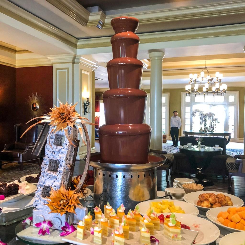 Chocolate Tea Huntington Langham Hotel