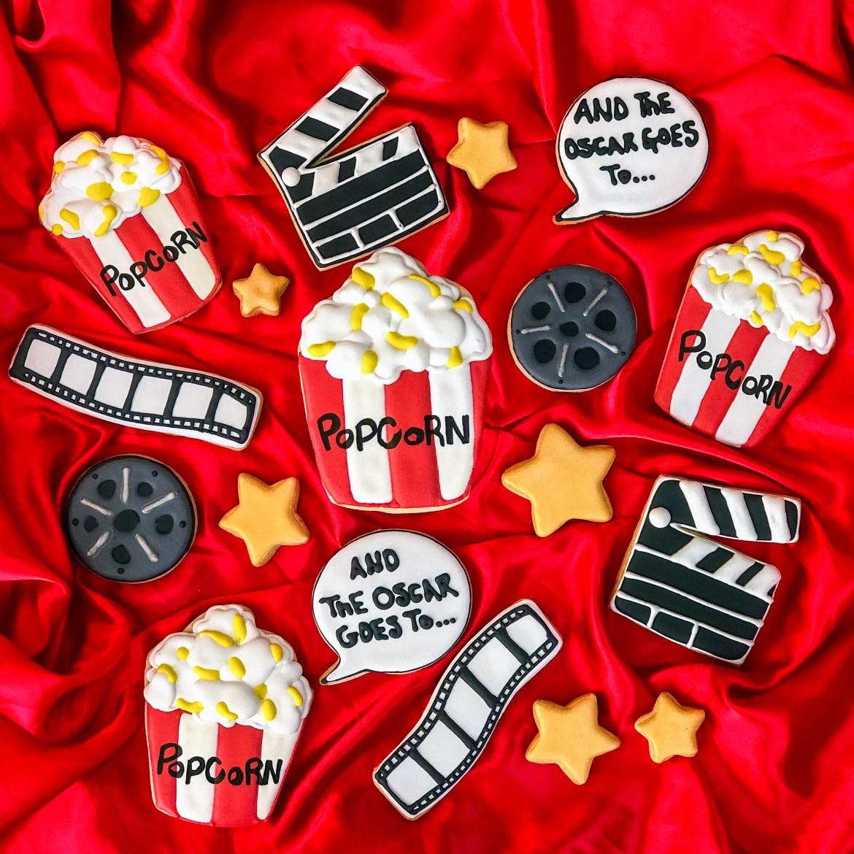 #academyawardparty #popcorncookies #cookieshilarystyle #cookiesareeverything