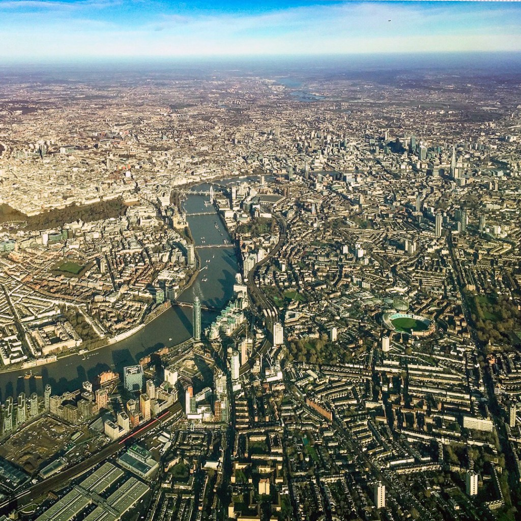 #london Airplane Birds Eye View London England United Kingdom