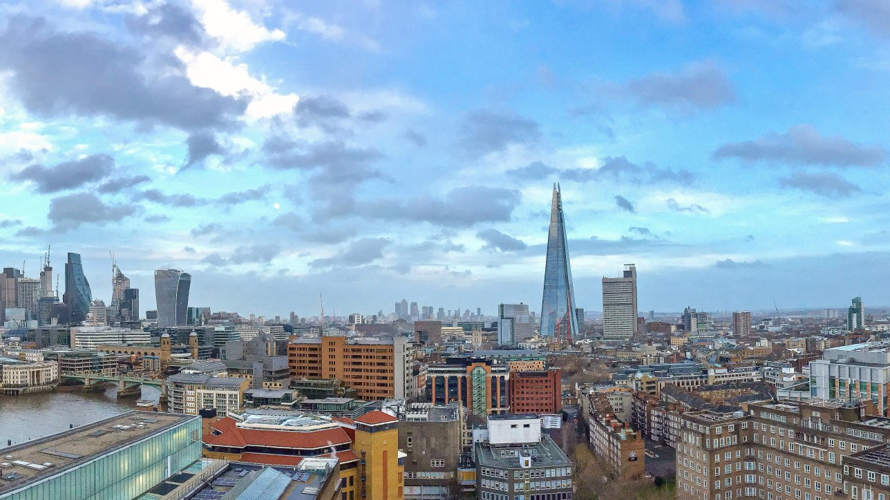 Panorama view from the Tate Modern Viewing Platform
