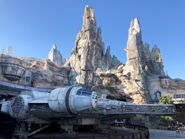 Millennium Falcom Exterior Galaxy's Edge Disneyland--2