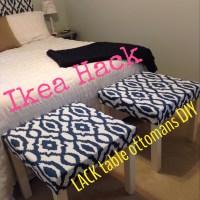 Ikea Hack - Lack Tables into Ottomans