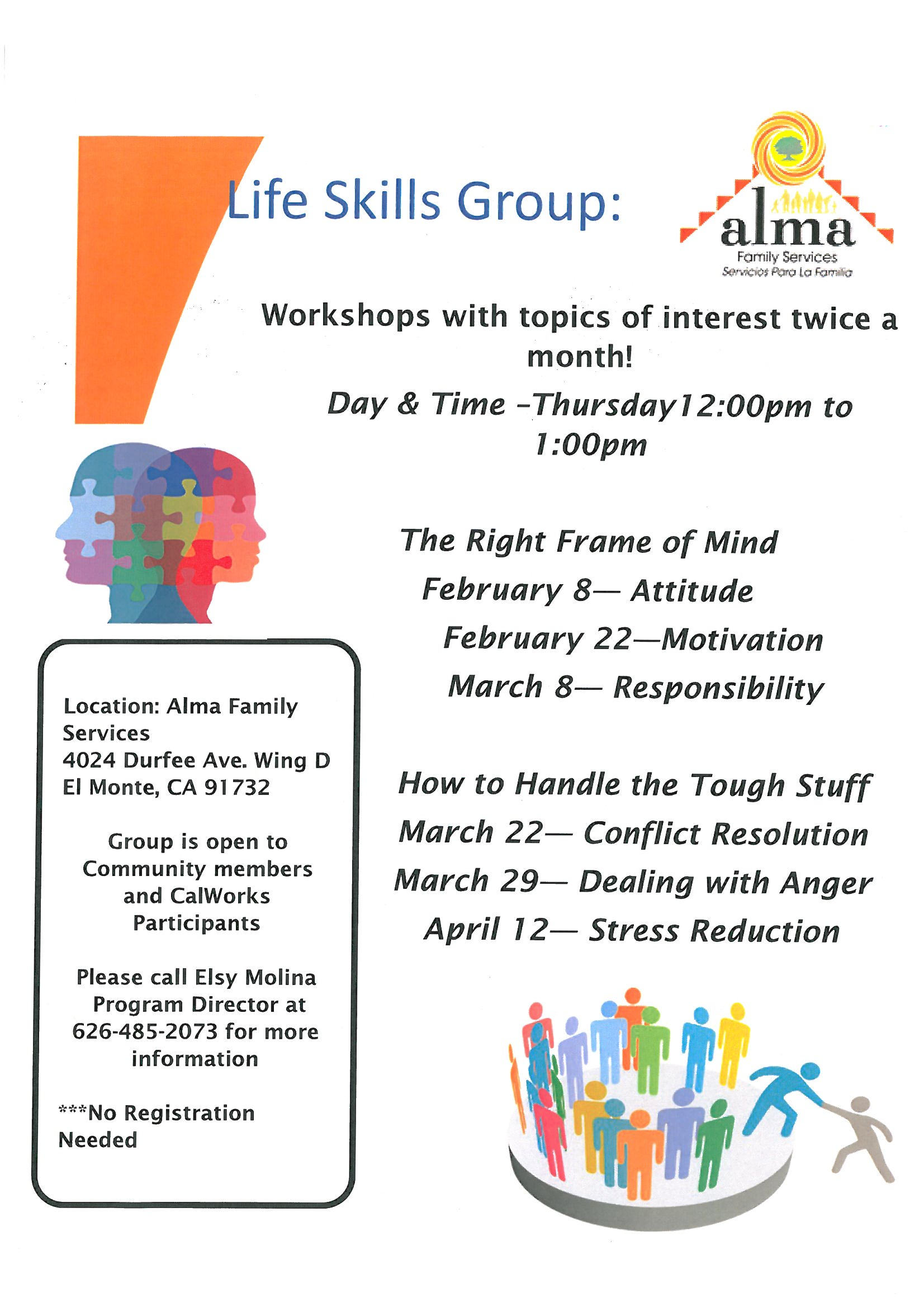 Alma Family Services hosting Life Skills Workshops