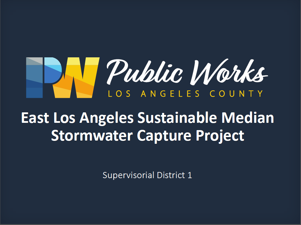 east los angeles sustainable median stormwater capture