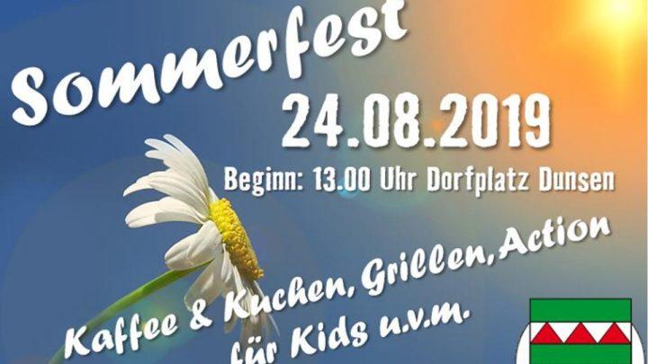 Sommerfest auf Dunser Dorfplatz