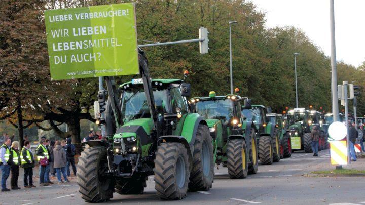 Deutschlands Bauern steuern jetzt Berlin an