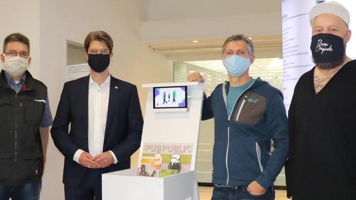 Maskenpflicht: Scanner in Rathaus und Stadtbibliothek