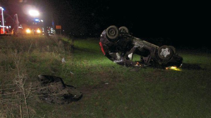 Verkehrsunfall mit einer schwerverletzten Person auf der L480