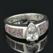 CS031 white sapphire and pink dinosaur bone 4