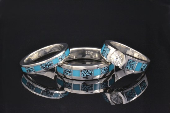 Our Favorite Turquoise Wedding Ring Set Hileman Jewelry