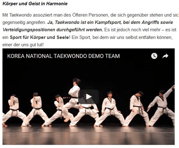 Taekwondo Füssen Verein