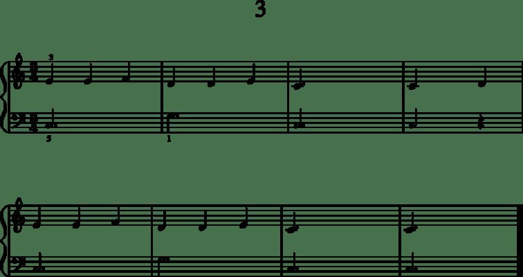 Helppoja pianonuotteja: 3