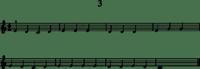 Alkeistason pianonuotteja: 3