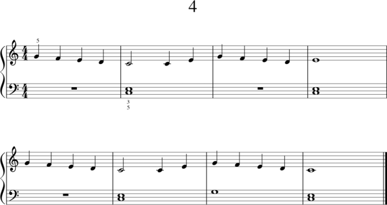 Helppoja pianonuotteja: 4