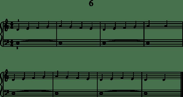 Helppoja pianonuotteja: 6
