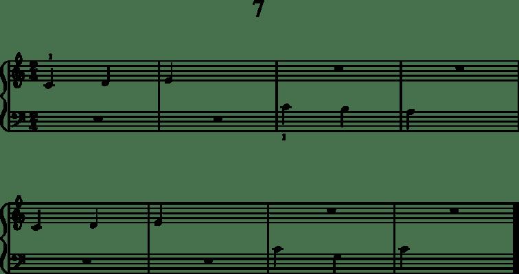 Helppoja pianonuotteja: 7