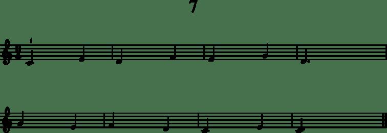 Alkeistason pianonuotteja: 7
