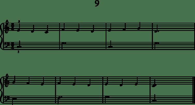 Helppoja pianonuotteja: 9