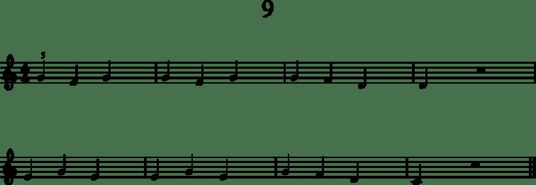 Alkeistason pianonuotteja: 9