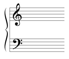 Ensimmäinen pianotunti: G- ja F-avaimet.