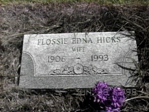 HICKS FLOSSIE TOMBSTONE