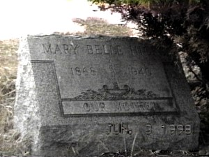 HICKS MARY BELLE TOMBSTONE