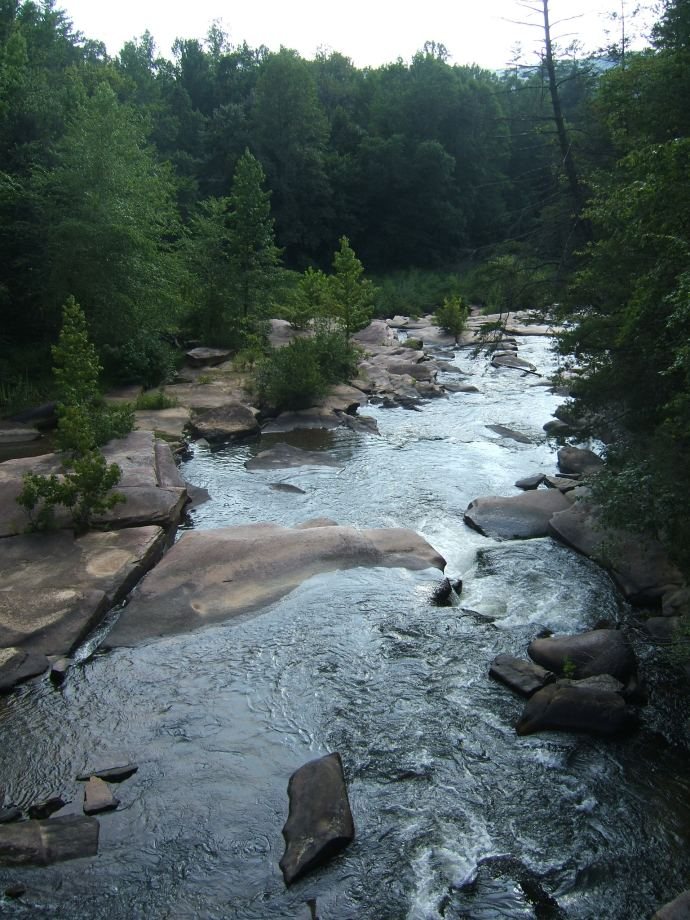 A river near Tallulah Gorge