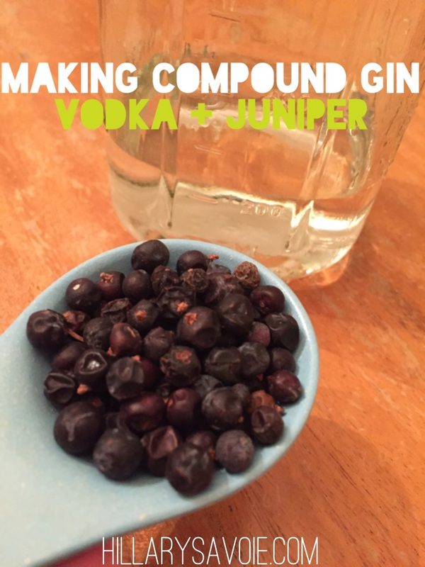 Gin! Homemade (compound) gin!