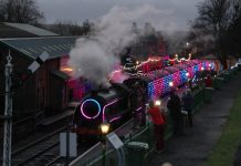 Steam Illuminations: Worlds first digital LED train