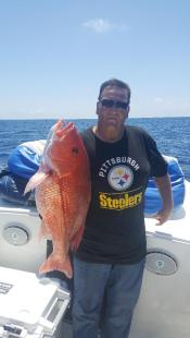charter with snapper