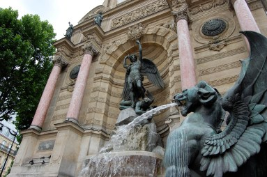 Fountain at Place St. Michel