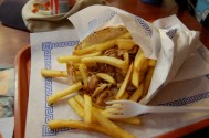 Gyro and fries in Paris