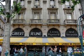 huge bookstore near Place St. Michel