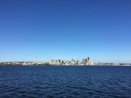Seattle skyline from the harbor cruise