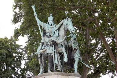 Charlemagne statue - Notre Dame de Paris